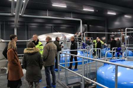Inauguration of the new 1.375 m2 surface water works